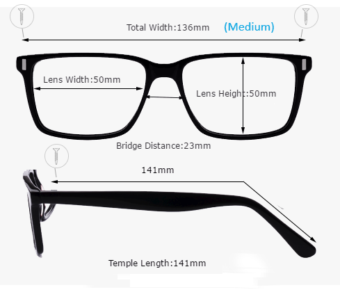 How to measure eyeglasses size?