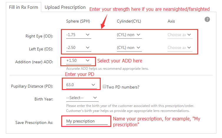 d8538b4e1f7 Enter prescription and save it   select