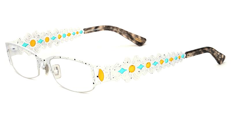 d8f71c907a Women's semi-rimless mixed material eyeglasses