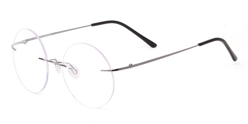 2862d12c18 Unisex rimless memory metal eyeglasses