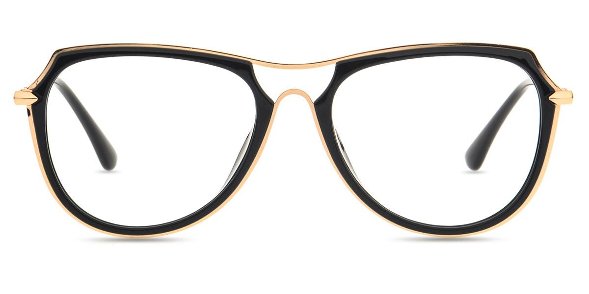 9a665a8968 Unisex full framemixed material eyeglasse