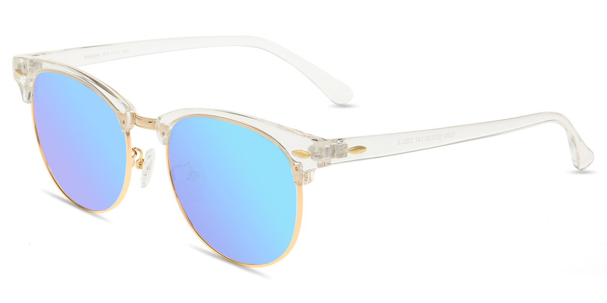 8a27ce5259 Unisex full frame mixed material sunglasses