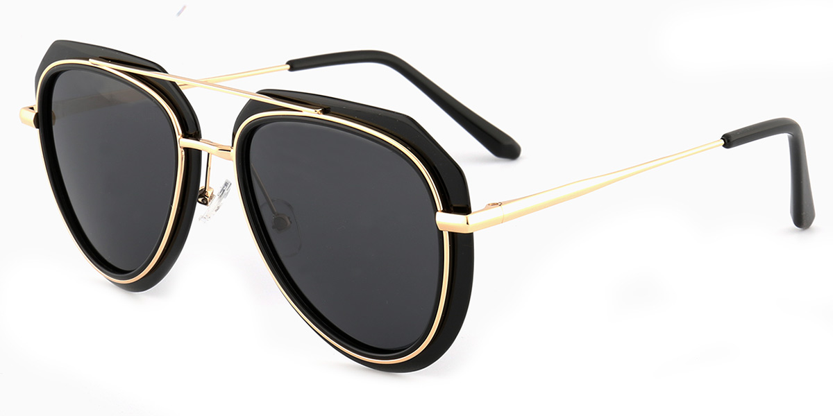 a9a58b6763 Women s full frame mixed material sunglasses