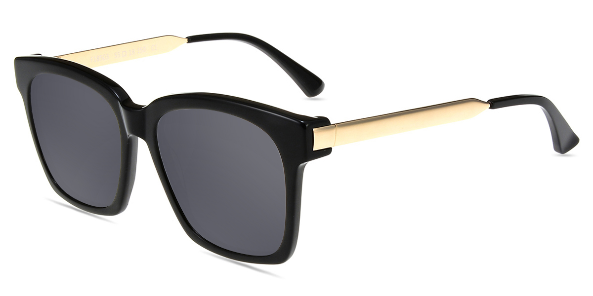 92cdf79a318 Unisex full frame mixed material sunglasses